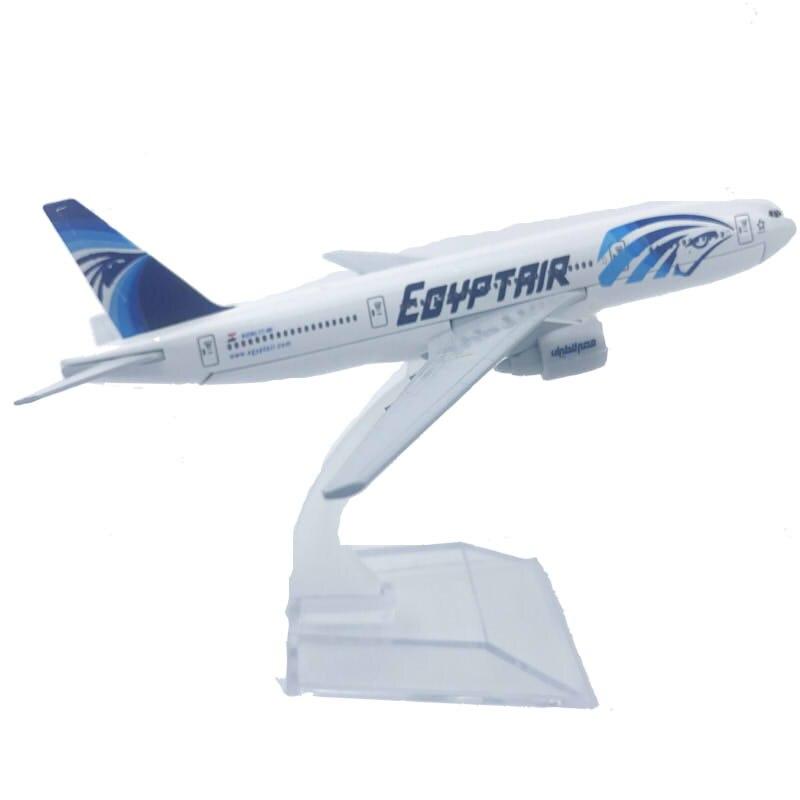Модель самолета Египет эйрлайнз, модель самолета 777, 6 дюймов, металлический самолет, домашний офис, Декор, мини-Мото, игрушки для детей