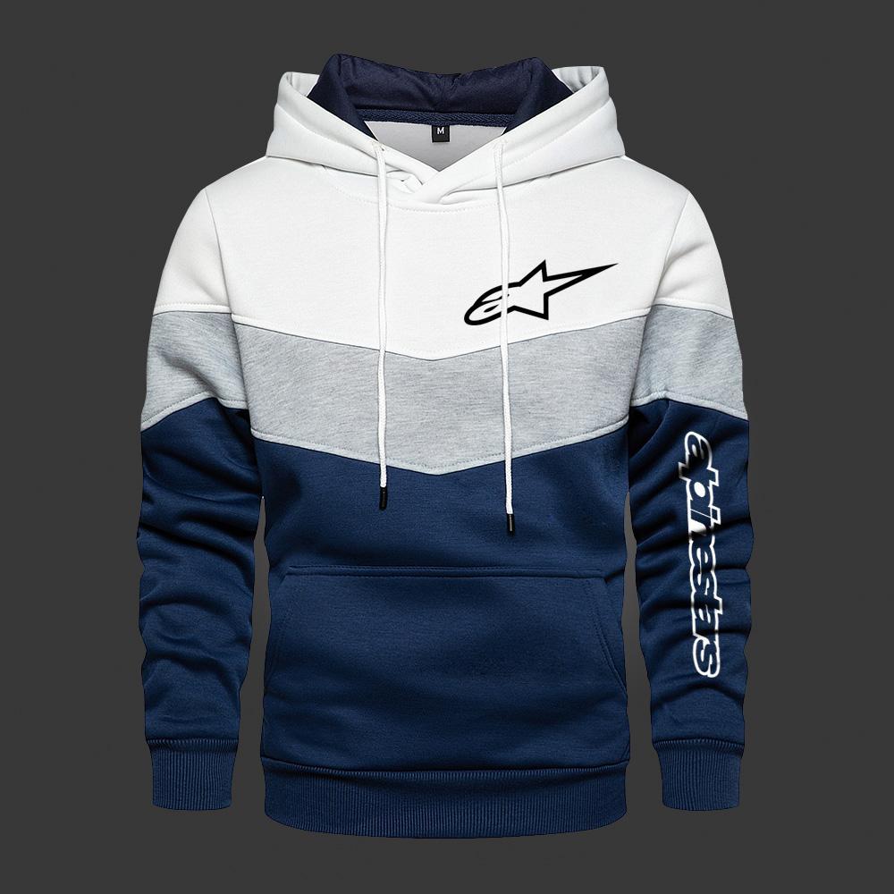 Men's Hooded Alpinestars Color Fashion Sweatshirt Long Sleeve Autumn Spring Ccasual Hoodies Sports P