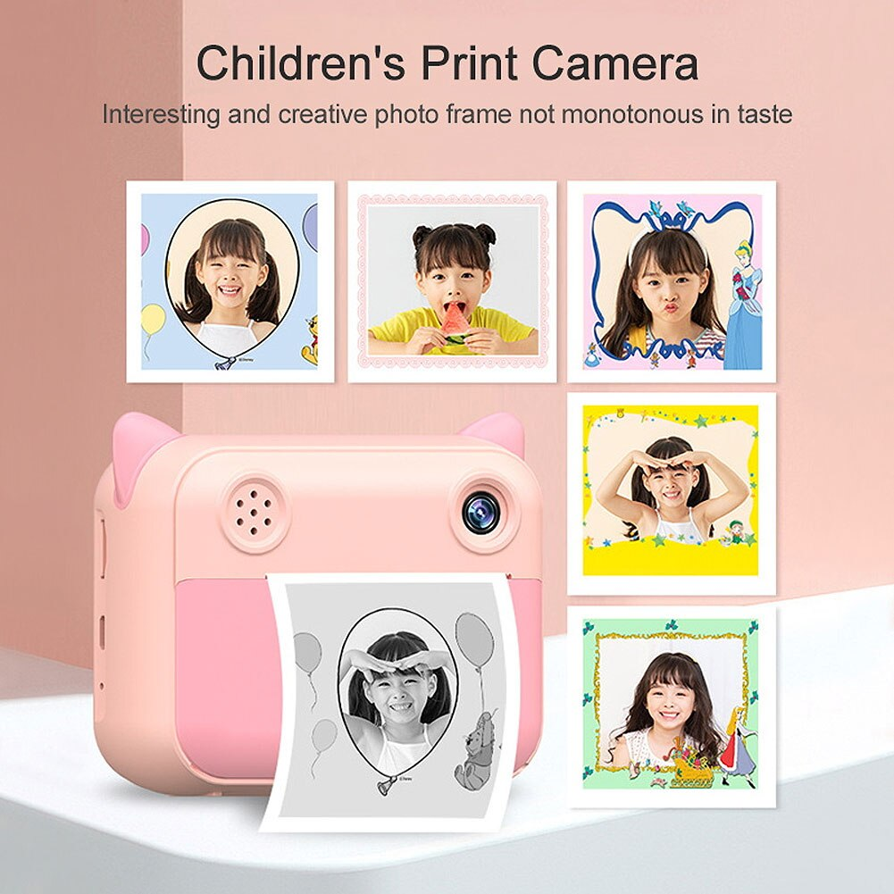 12MP Kids Instant Print Camera 2.4inch HD 1080P Children Photo Video Digital Cameras Toy Thermal Printing Camera Birthday Gifts enlarge