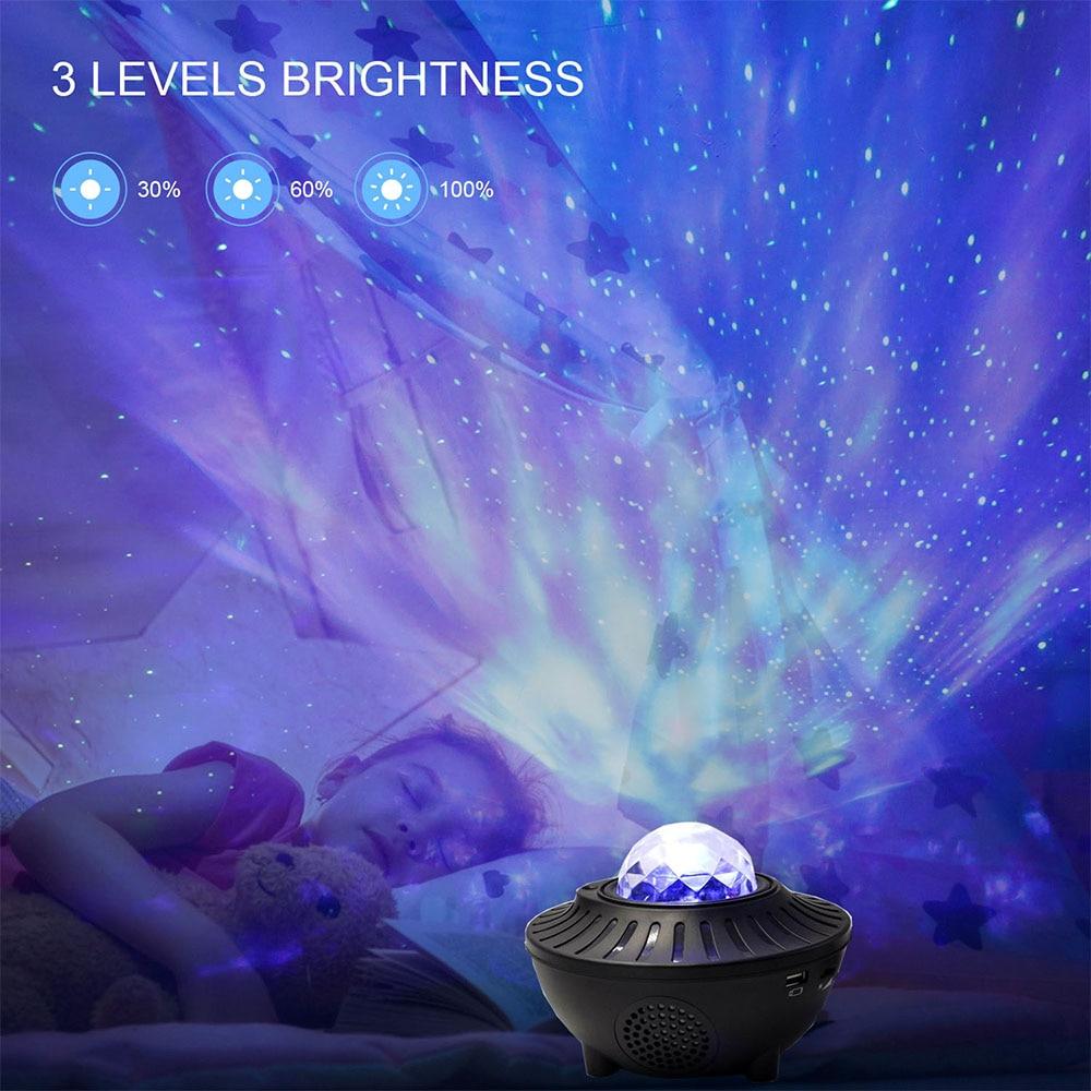 led colorido ceu estrelado projetor blueteeth usb controle de voz leitor musica noite