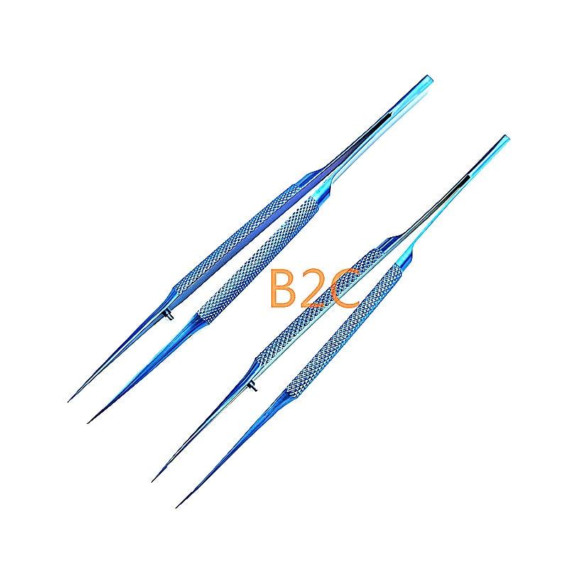 Pinzas oftálmicas de 14 cm, fórceps de microcirugía, instrumentos quirúrgicos oftálmicos