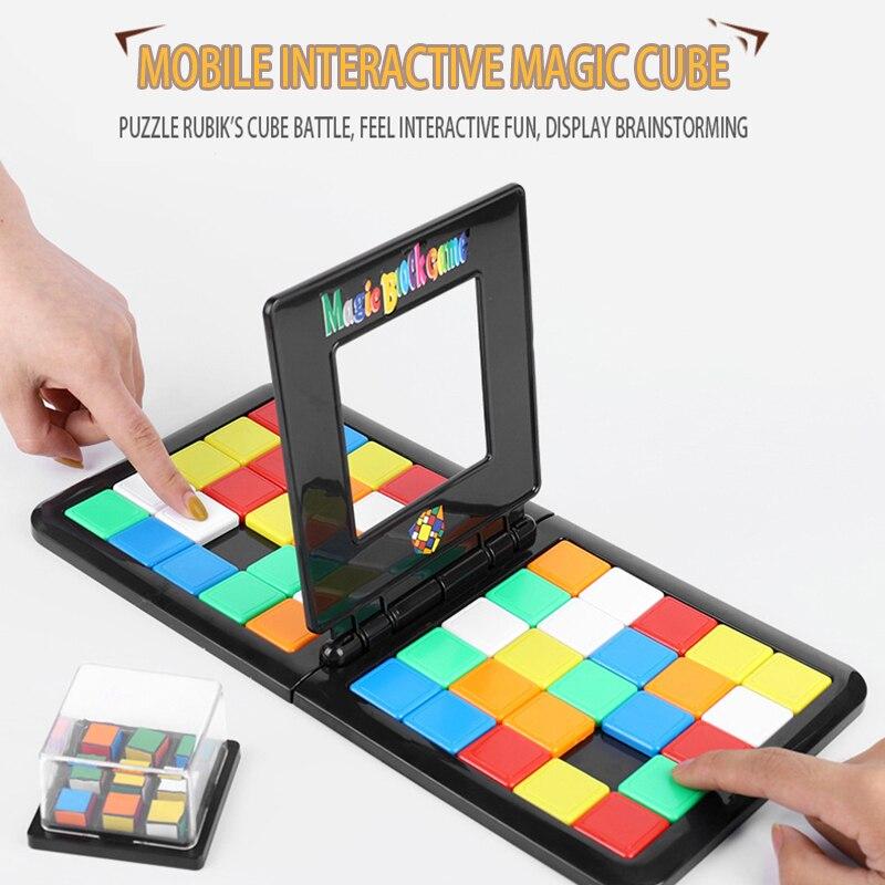 Пазл 3D Цветные Волшебные кубики забавные гоночные кубики настольные игры семейвечерние интерактивные игрушки для взрослых и детей Обучающ...
