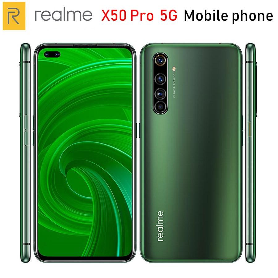 "Original Realme X50 Pro 5G teléfono móvil 6,44 ""6/8/12GB de RAM/128/256GB ROM Snapdragon865 64MP 4200mAh NFC 5G Smartphone Android 10"
