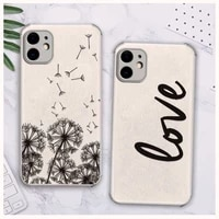 dandelion feather text phone case lambskin leather for iphone 12 11 8 7 6 xr x xs plus mini plus pro max shockproof