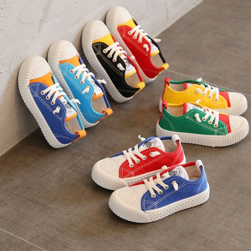 Crianças sapatos de lona meninos meninas fundo macio cookie inferior sapatos casuais crianças pouco antiderrapante respirável calçados 22-36