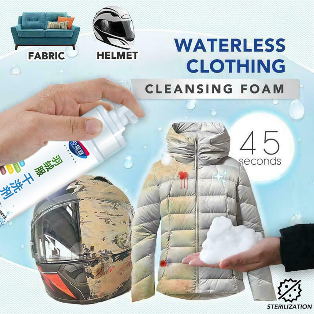 2021tops home decor Convenience Down Jacket Wash-free Spray Waterless Clothing Cleansing Foam 180ML