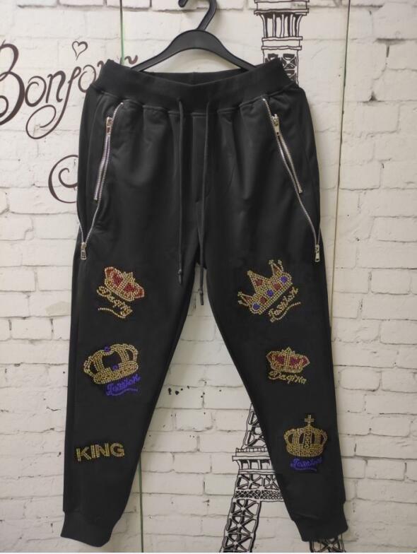 سباندكس المواد الساخن حفر Sweatpants رائجة البيع مصمم السراويل