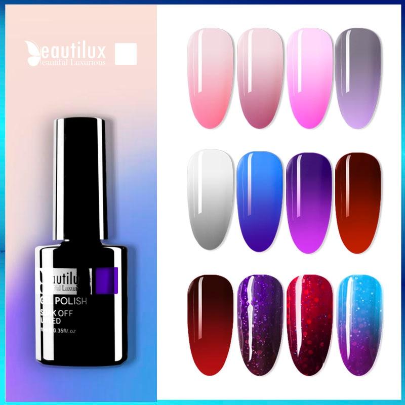 AliExpress - Beautilux 1pc Thermal Mood Temperature Color Changing Gel Nail Polish Soak Off UV LED Nails Gel Polish Varnish Lacquer 10ml