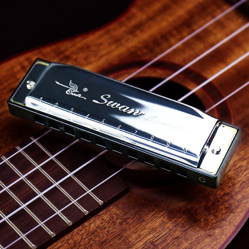 Silver Metal Swan Diatonic Blues Harmonica/ Mouthorgan 10 Holes C Key Harp Mouth Organ сонни терри алек севард sonny terry and his mouth harp