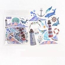 Autocollants décoratifs, baleine de plage, temps de paix, 40 pièces/sac, décor pour Album, journal intime, compte à main