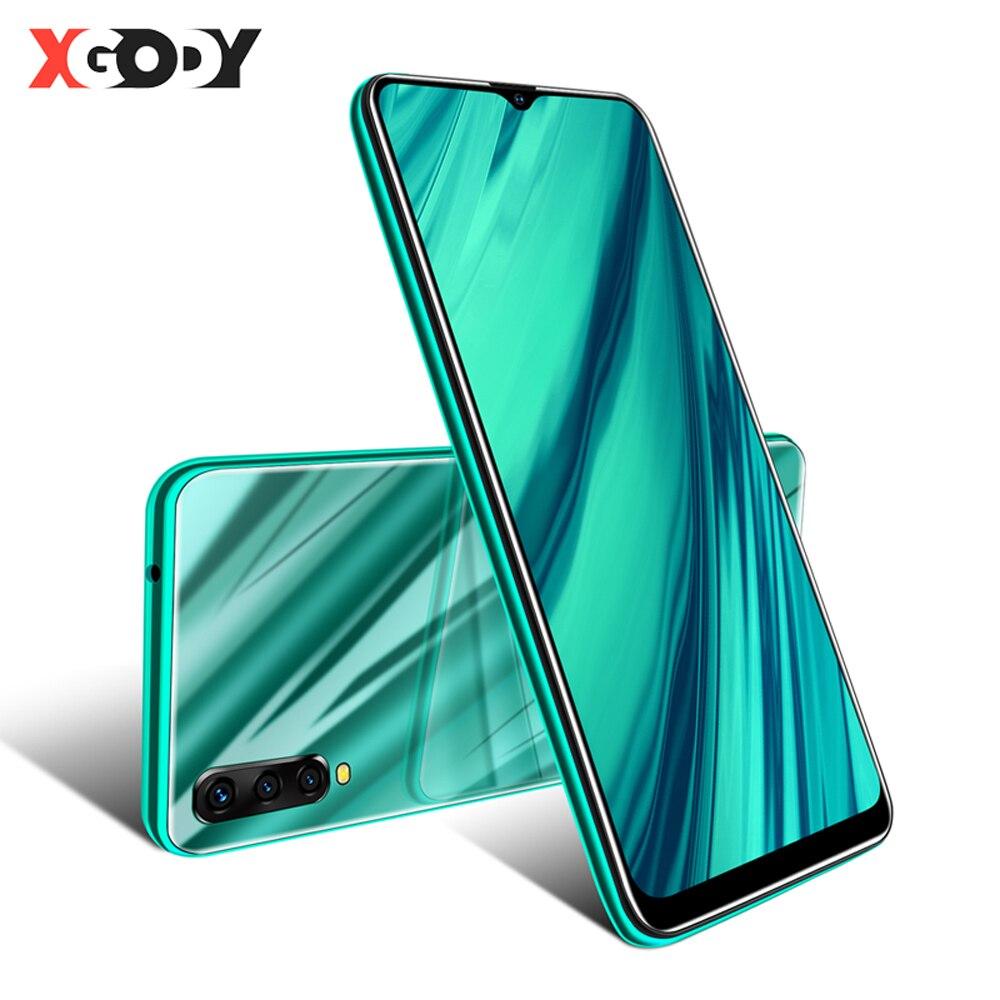 XGODY 6,53 pulgadas 3G teléfono móvil Android 9,0 Celular de agua pantalla Smartphone 2GB + 16GB MTK6580 Quad Core Dual SIM 5MP Cámara
