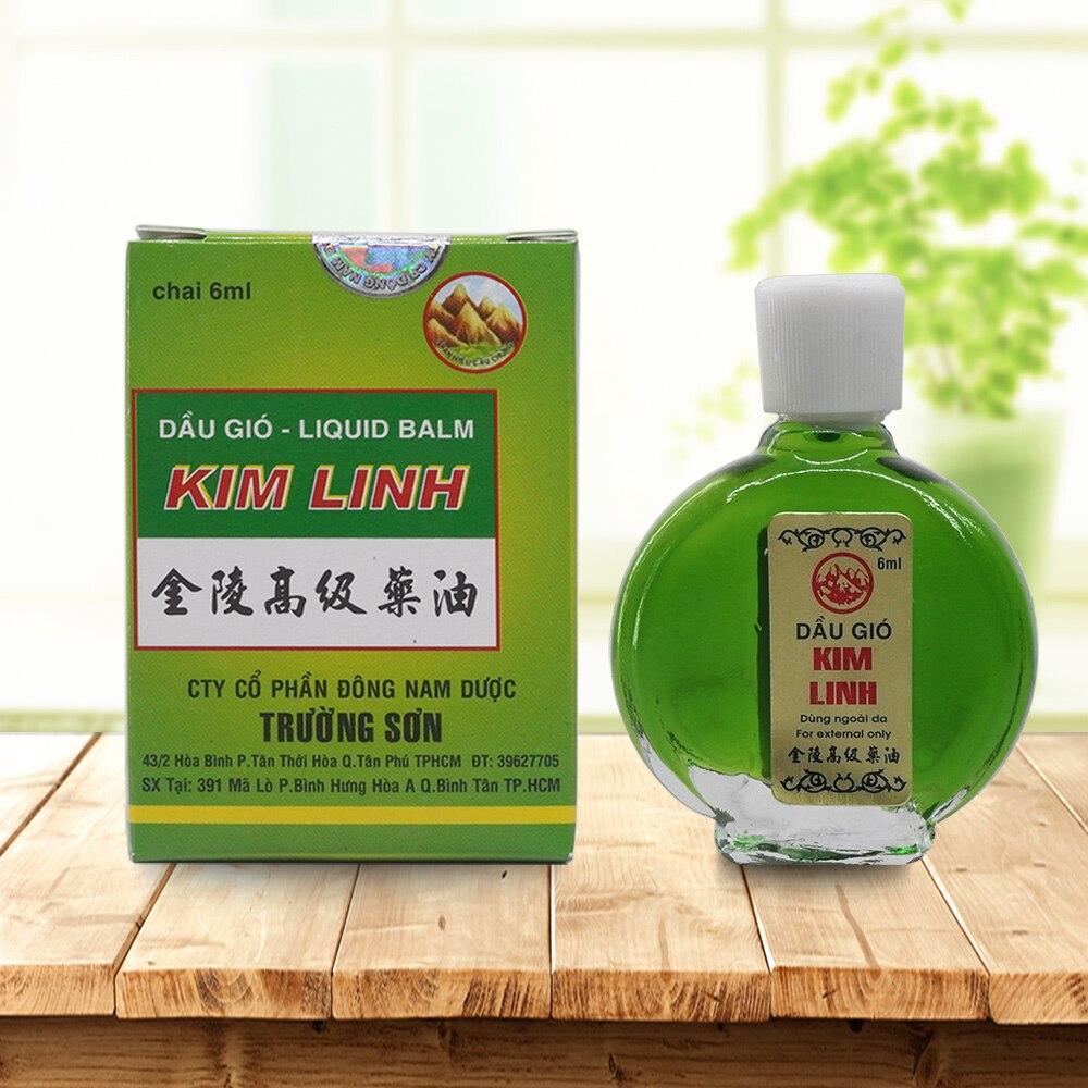 Aceite de bálsamo de tigre estrella de Vietnam para el dolor de cabeza frío, dolor de estómago, mareo, golpe de calor, insectos, picaduras, bálsamo esencial 6 ml/unids