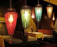 mediterranean bohemian chandelier stained glass chandelier cafe corridor aisle bar table lamp dinning room lights led