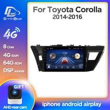 Prelingcar Android 10 For Corolla 11 2012 2013 2014 2015 2016 자동차 라디오 멀티미디어 비디오 플레이어 GPS 네비게이션 NO DVD 2 Din DSP