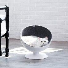 Maison rotative dété pour lit de chat   Grotte dintérieur ronde, joli animal de compagnie, maison sphérique Camas Para Gato niche de chat en plastique 50Mw10