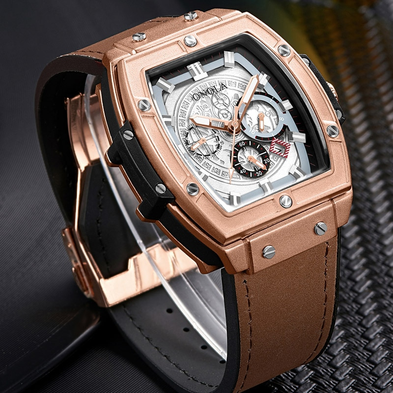 2021 New Fashion Men's Watch Top Brands, Equipped with Stainless Steel Luxury Sports, Time Code, High Quality Quartz Watch