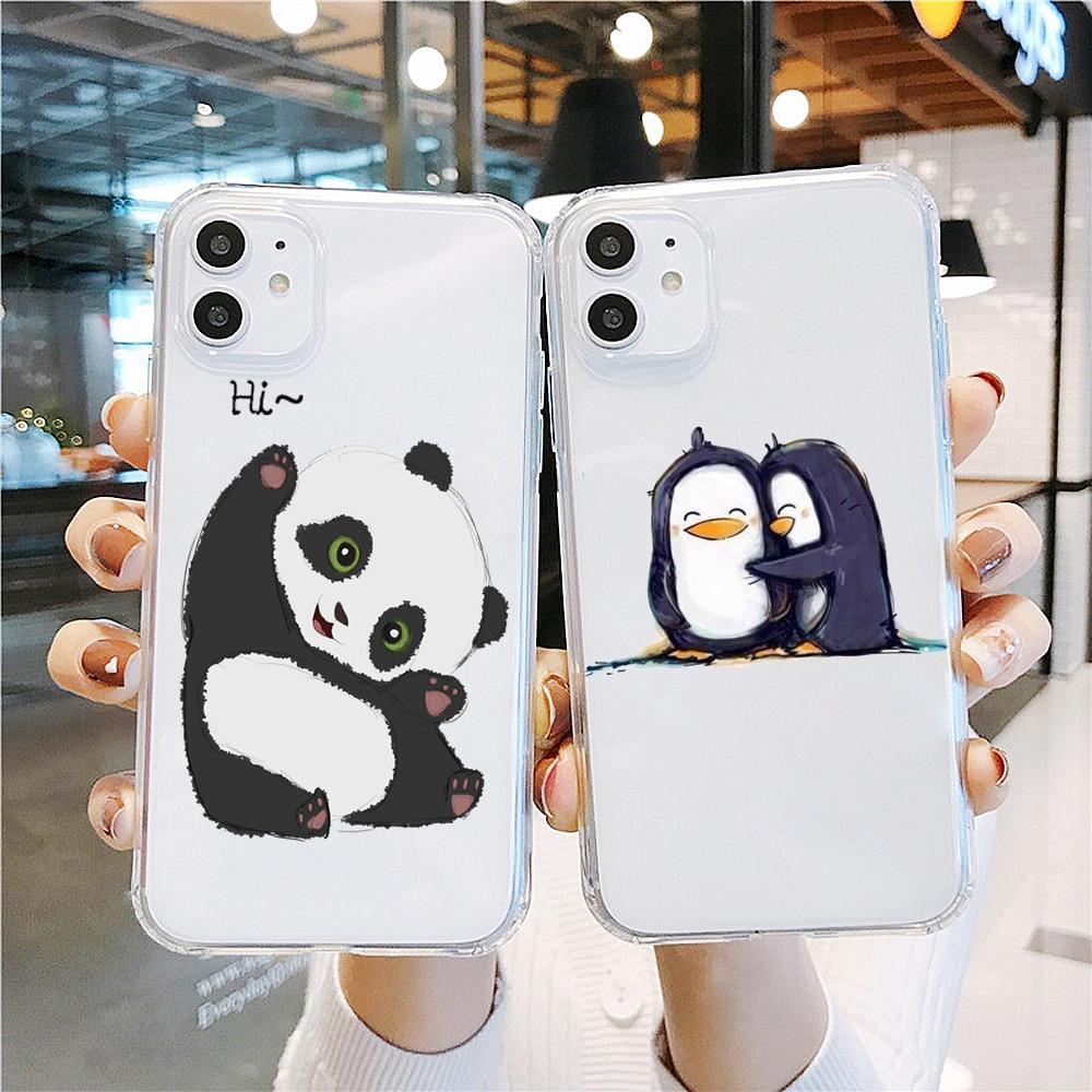 PUNQZY regalos zorro búho de punto panda pingüino funda del teléfono para Huawei P30 P20 mate10 lite P10 P30 P20 PRO invierno suave TPU caso