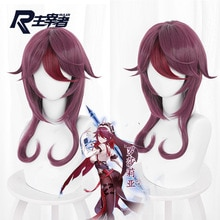Game Purple Highlights Turn Upturned Long Sideburns Short Hair Cos Wig 503Mcos Wig Halloween Party C