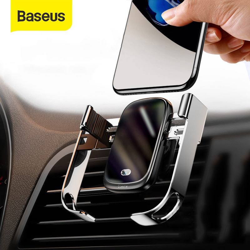Baseus Car Wireless Charger For iPhone 12 11 Pro XS Max 10W Induction Fast Wireless Charging Car Pho