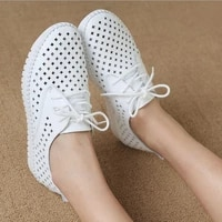 casual shoes womens leather flat shoes womens small white shoes womens sports shoes womens hollow breathable flat shoes