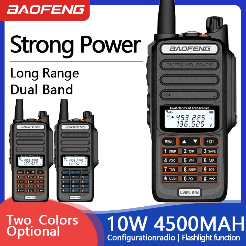 2Pcs Baofeng UV-9R ERA Plus Marine Portable Two-way Radio Stations Trucker Walkie-Talkie 40KM Communication Equipment CB Radio
