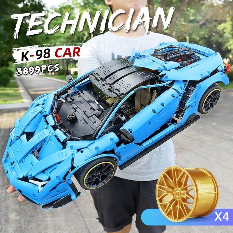 MOC-39933 التكنولوجيا الفائقة لامبورجنيد 100 سنة سينتينياريو 1:8 Hypercar الطوب الإبداعية سوبر سيارة ألعاب مكعبات البناء للأطفال الهدايا
