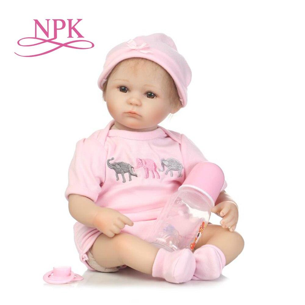 Npk reborn premie atacado lifelike reborn bebê boneca presente de aniversário para meninas mão aplicada mohair