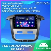 android 10 0 car radio player octa core 4gb ram64gb rom gps navigation stereo head unit for toyota innova 2011 2015 support 4g