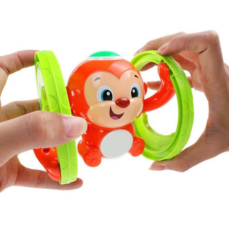 1 Pc Tumbling Clockwork Animal Luz Música Aprendizagem Bebê Engatinhando Educacional Wind Up Brinquedos para As Crianças Jogos Engraçado Bonito desempenha