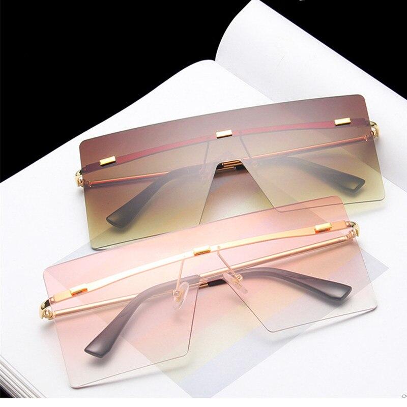 VWKTUUN Солнцезащитные очки женские 2020 квадратные очки интегрированные солнечные очки мужские негабаритные Оттенки UV400 очки зеркальные очки большие очки