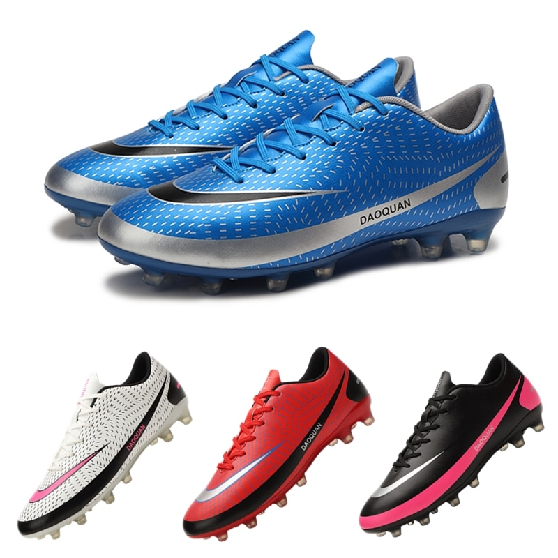 New Arrival Light Soccer Shoes Men's Large Size FG/TF Soccer Cleats Training Sneakers Unisex Kids Athletic Football Ankle Boots