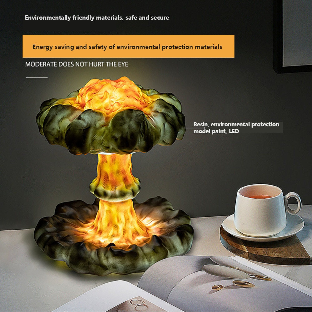 DIY 3D Lamp Simulated Explosion Mushroom Cloud Led Dimming Children's Night Light Creative Gift 3D Table Lamp for Bedroom Decor enlarge