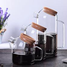 Transparent Glass Coffee Maker Heat Resistant Large Teapot Tea Set Accessories Office Home Juice Drink Kettle