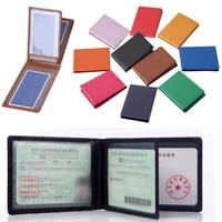 ultra thin driver license holder leather cover for car driving documents business id pass certificate folder unisex wallet case