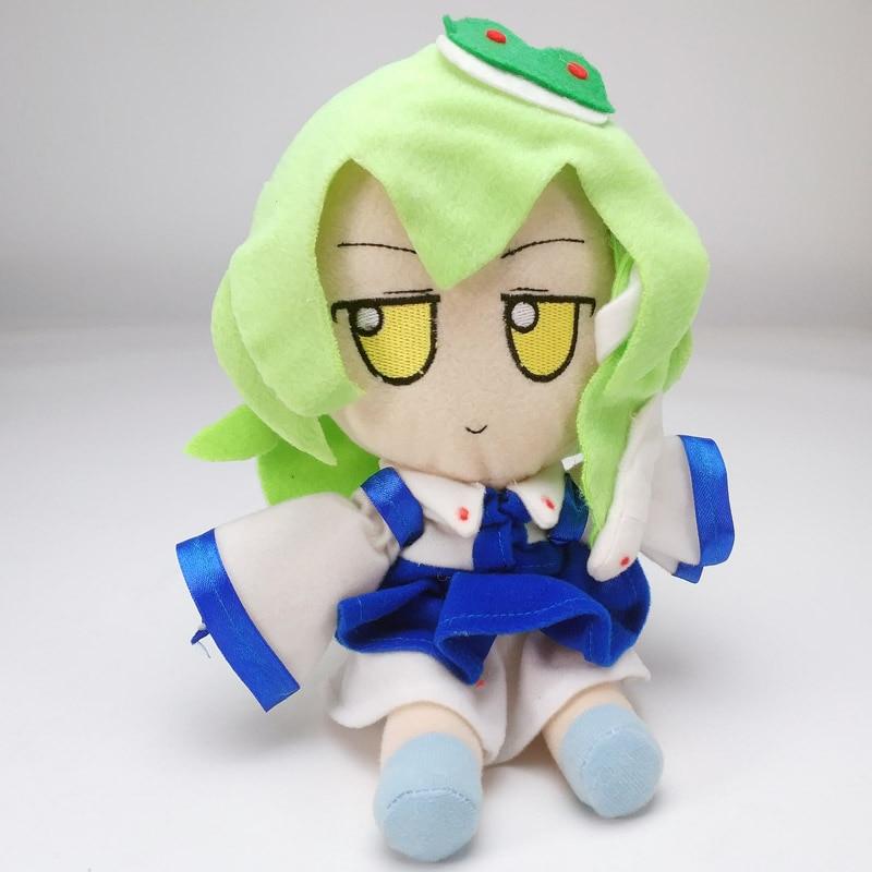 Anime TouHou Project Kochiya Sanae 20cm juguetes muñeca de peluche suave #5576 regalo para niños