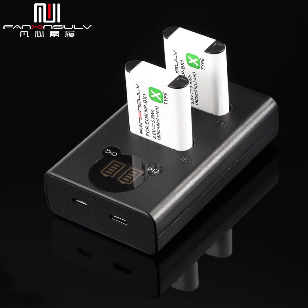 2x NP-BX1 NP BX1 NPBX1 de batería de la Cámara de Sony...