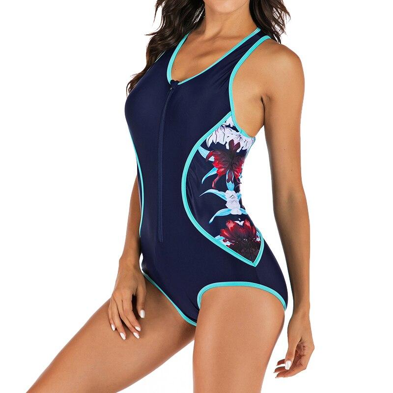 Traje de baño de una pieza sin mangas traje de baño de una pieza con cremallera frontal de buceo traje de baño ropa de playa guardia de raso M L XL XXL