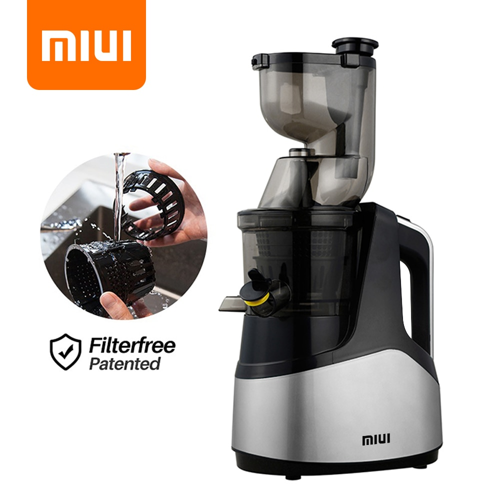 MIUI Slow Juicer 7LV Screw Cold Press Extractor FilterFree Easy Wash Electric Fruit Juicer Machine Large Caliber 2020Multi-Color