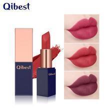 Qibest 12 ombre couleur Nude mat rouge à lèvres Pigment imperméable rouge Nude longue durée rouge à lèvres mat maquillage batom mat Maquillajes