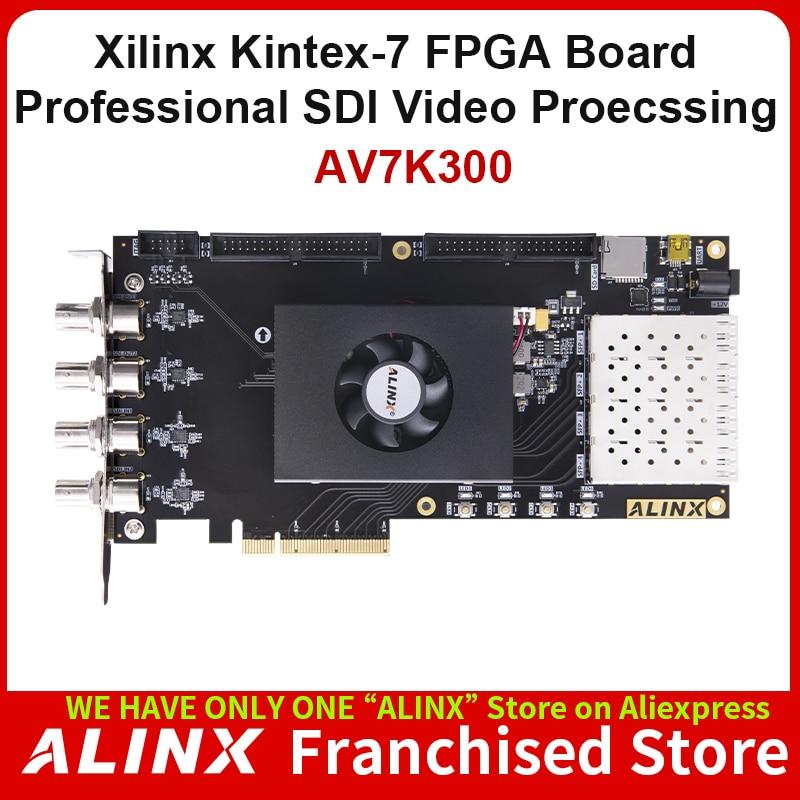 ALINX AV7K300: XILINX Kintex-7 K7 7325 XC7K325 SDI Video Image Processing SFP PCIE Accelerator Card FPGA Development Board