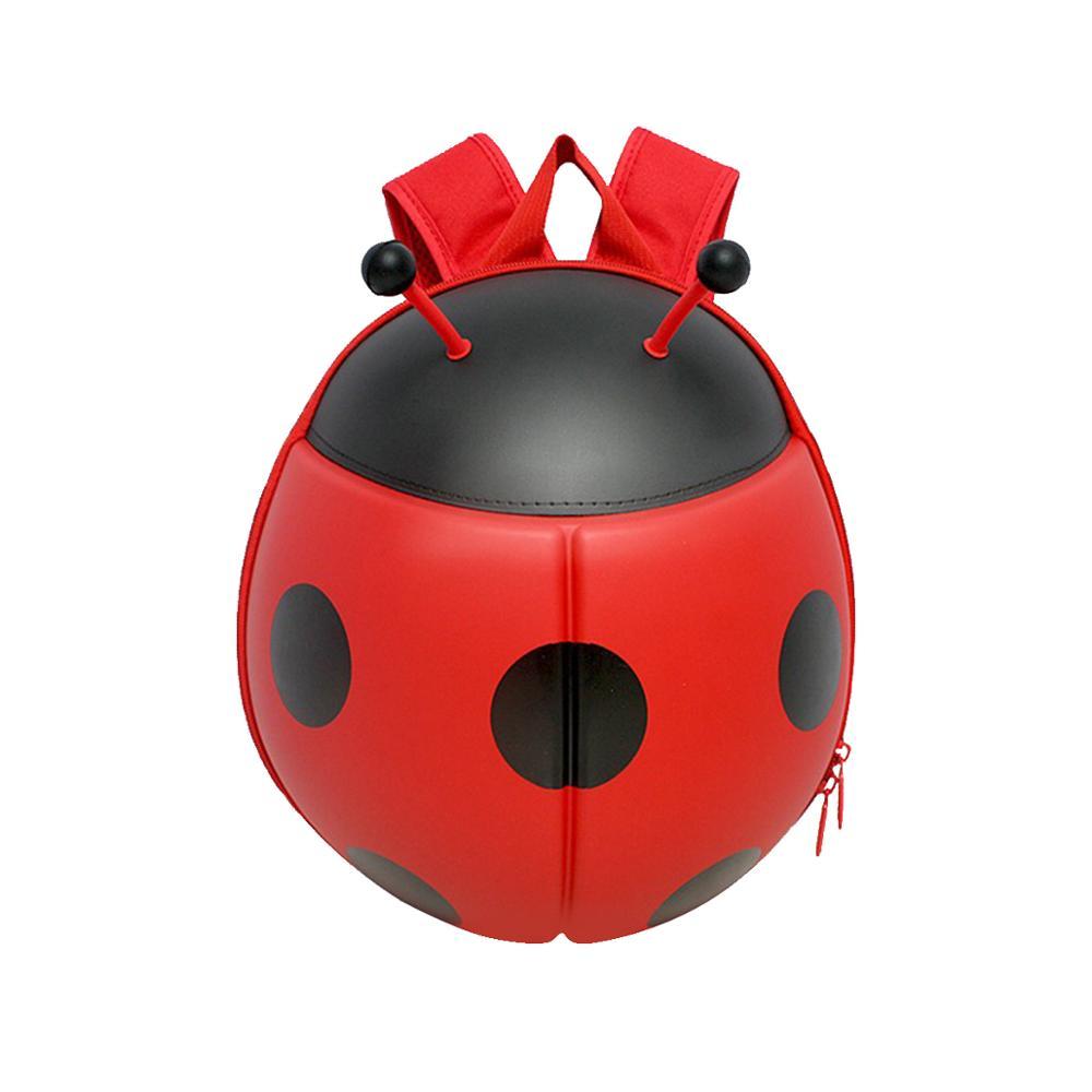 SUPERCUTE fashion Ladybug Shape kids backpack 3D cartoon kids bag nature inspired outdoors kids toy storage bag