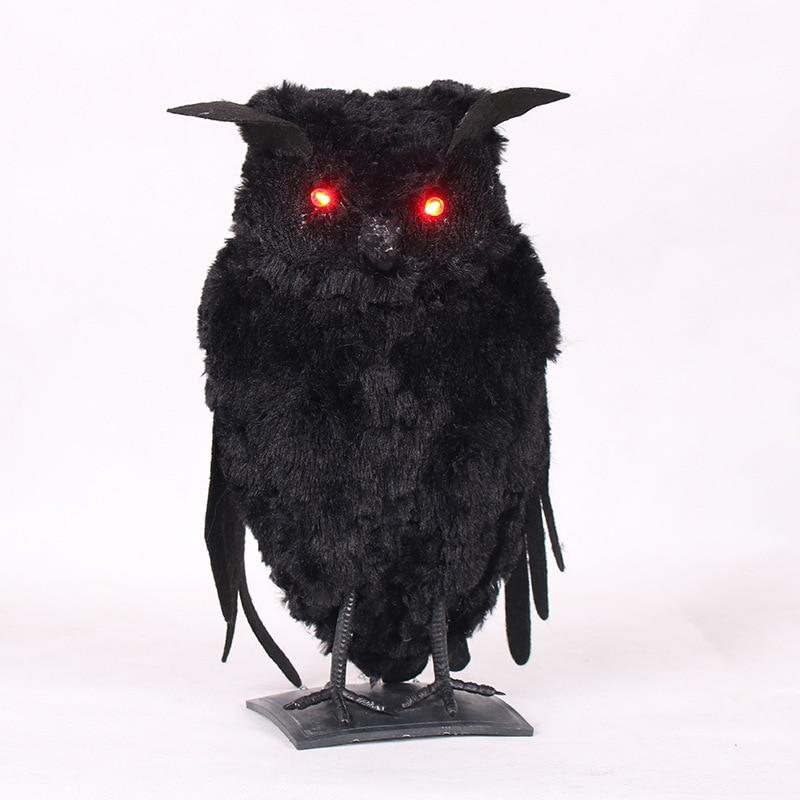 Novedad Halloween casa embrujada Bar decoración luminiscente murciélago búho Crow Animal fiesta Horror accesorio