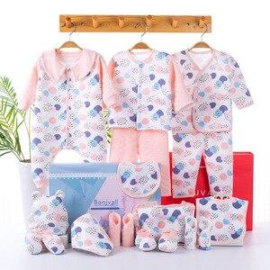 18 piece Newborn Baby Girl Boy Clothing Set 100% Cotton Infant Boy Clothing Suit Baby Girl Clothes Outfits Pants Hat Bib Gloves