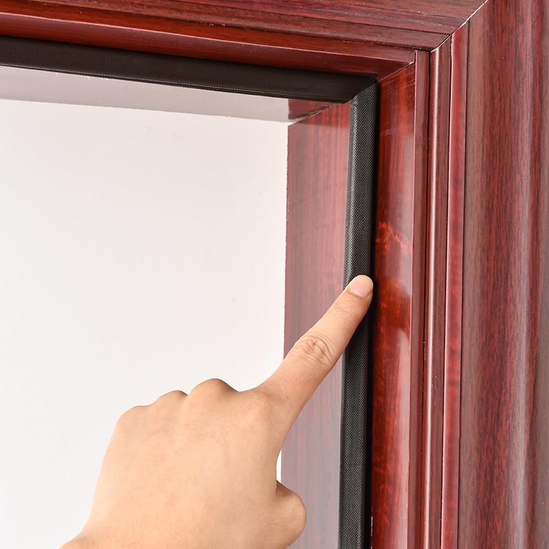 Звукоизоляционная лента для дверей из полиуретана, самоклеющаяся клейкая лента для уплотнения дверей, клейкая лента для окон и дверей