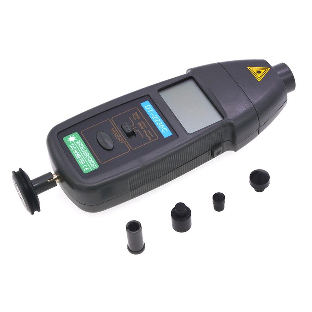 DT2236C عداد سرعة رقمي 2 في 1 ثنائي الغرض الاتصال عدم الاتصال سرعة كاشف متر السيارات تتراوح 2.5-99999RPM ALI88