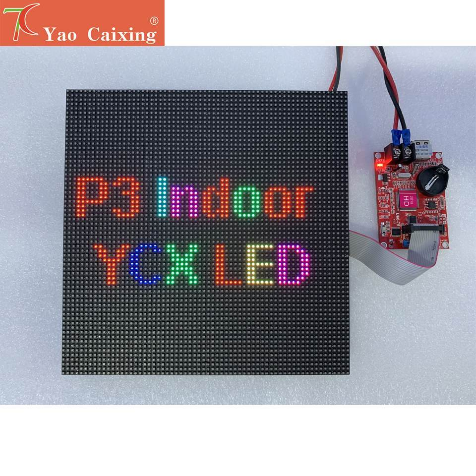 Aliexpress חינם משלוח P3 מקורה smd 192*192mm צבע מלא led מודול עבור וידאו קיר דיגיטלי לוח