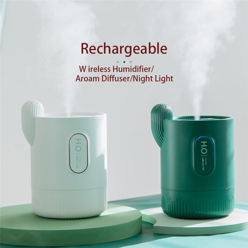 Portable 330ml Humidifier USB Rechargeable Aromatheraphy Humidifier Aroma Essential Oil Diffuser with Colorful Night Light Home