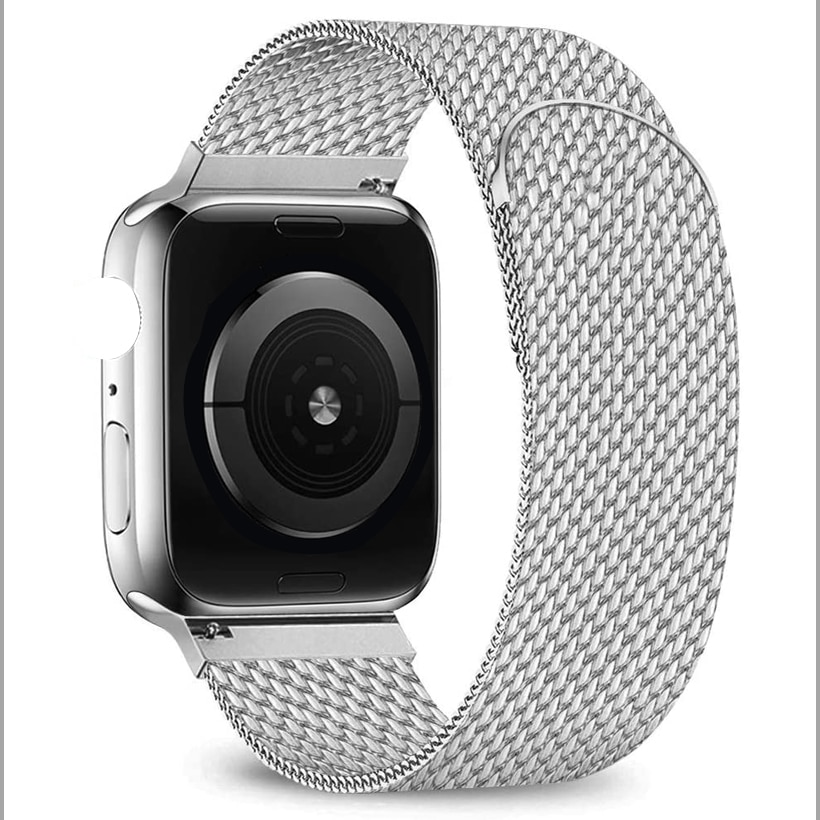 Pulseira banda para apple watch 5 4 3 40mm 44mm iwatch banda 38mm 42mm malha malha loop de metal correa para apple pulseira de relógio 38 42 40 44mm