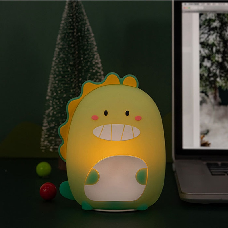 Avocado Rocket Rainbow Donuts Dinosaur Silicone Lamp Silicone Lamp LED Cartoon Pat Color Voice Control Induction Atmosphere Lamp  - buy with discount