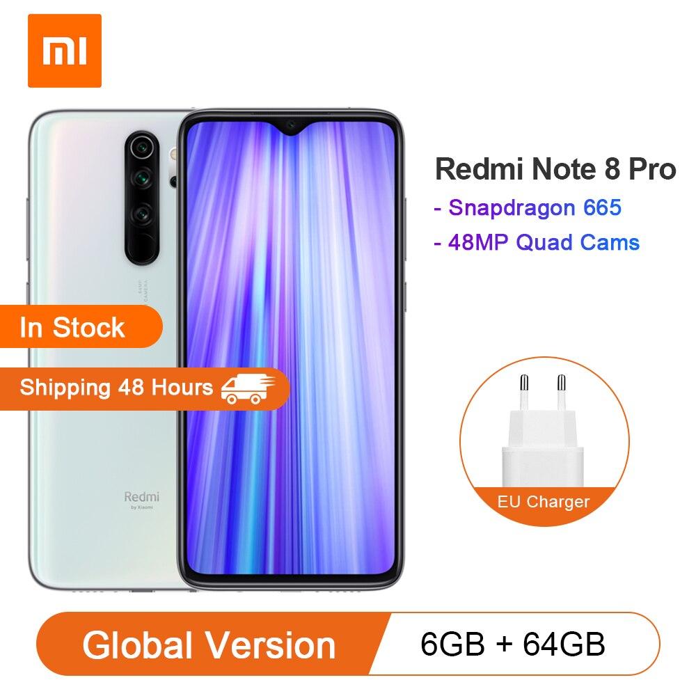 Перейти на Алиэкспресс и купить Смартфон Xiaomi Redmi Note 8 Pro, 6 ГБ, 64 ГБ, 4500 мАч, 18 Вт, QC 3,0, NFC